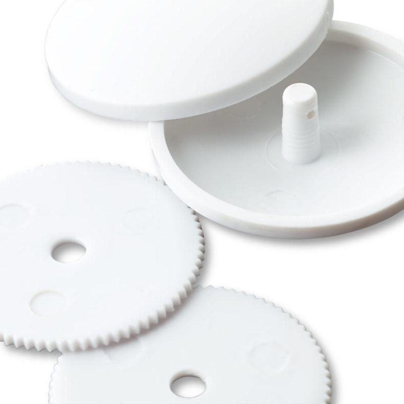 Prym Überziehbare Knöpfe 3 Stück 22mm weiß Kunststoff Knopf 323237