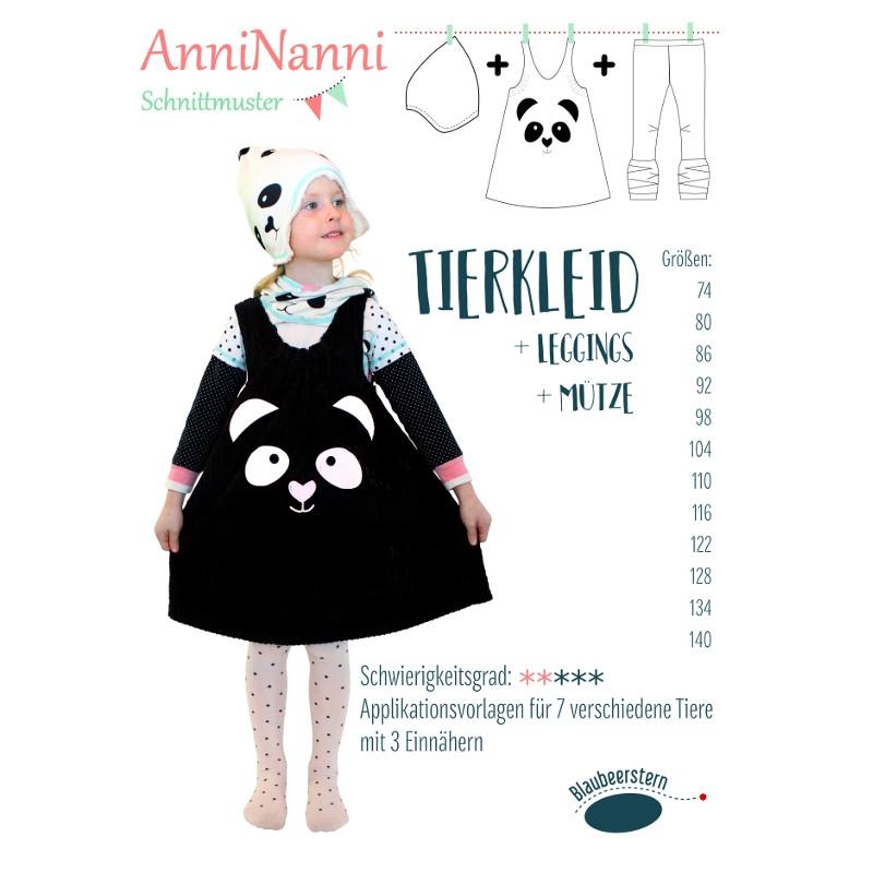 """Papierschnittmuster """"Tierkleid"""" von AnniNanni"""