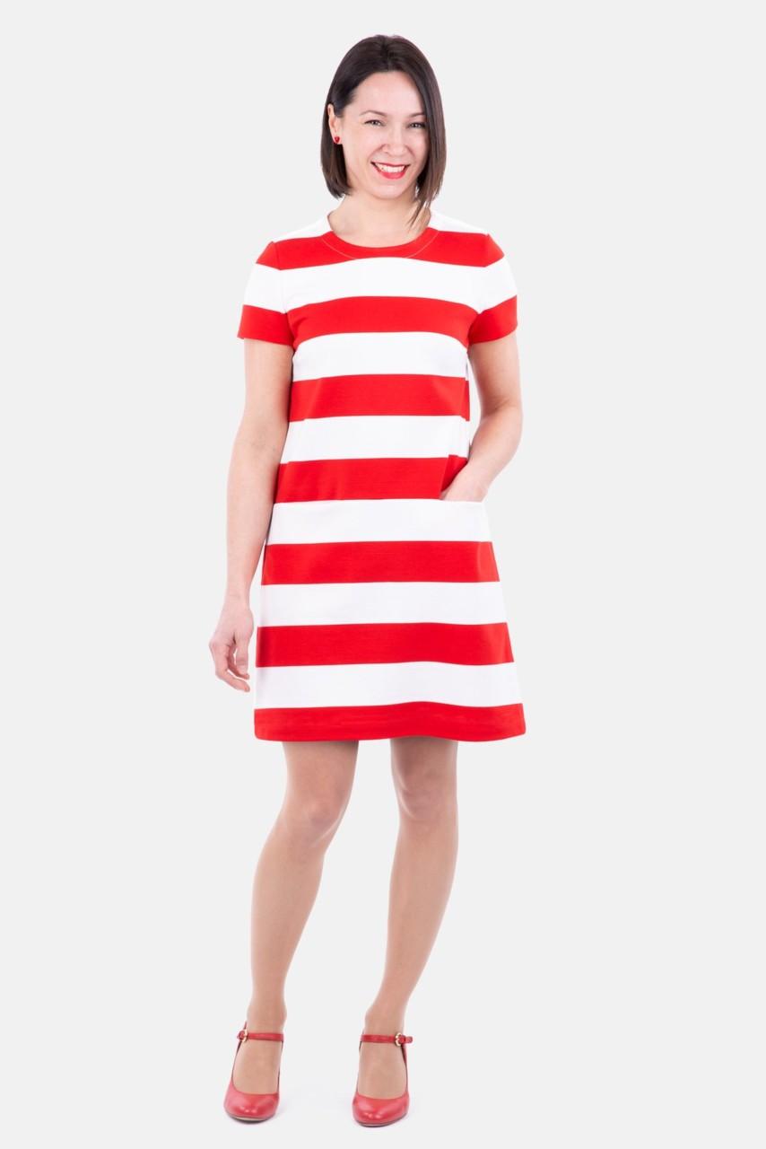 Papierschnittmuster Damen Kleid Stacey Pattydoo Jerseymutti Stoffe Online Kaufen